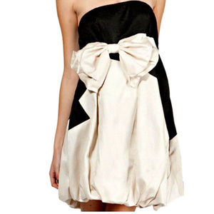 * RYU ModCloth BOW FRoNT TEA PaRTy Bubble DRESS S*
